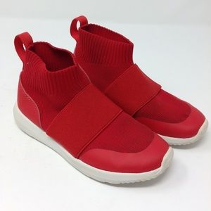 H&M Red Stretch Knit High Top Sneakers Like New